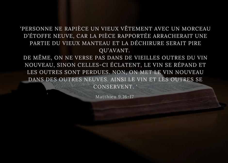 Laissez le Saint Esprit vous renouveler – Message du pasteur Vincent Trapani